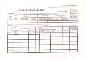 Код вида операции в форма м 11 требование накладная