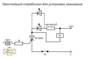 Самодельный стробоскоп для установки зажигания