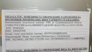 Документы для возврата пошлины на внж