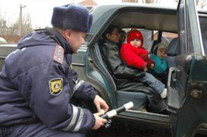 Сколько штраф если ребенок без кресла