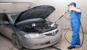 Можно ли мыть двигатель автомобиля керхером
