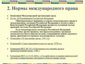 Конспект действия норм международного права на территории российской федерации 2018