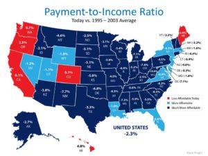 В каких штатах сша самая дешевая недвижимость