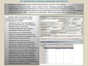 Единый перечень должностей и профессий по которым бронируются граждане