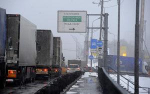 Проезд грузового транспорта через мкад