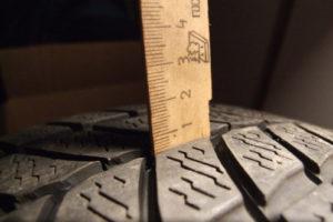 Остаточная высота протектора шин