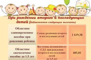 Региональные выплаты на второго ребенка в москве 2018