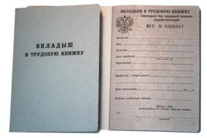 Какого года вкладыши в трудовую книжку