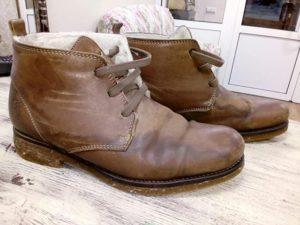 Как удалить водяные разводы на кожаной обуви