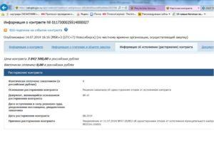 Пошагово разместить на сайте госзакупок о расторжении контракта