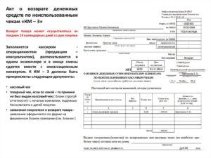 Возврат денежных средств покупателю правила документы