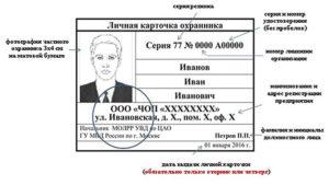 Личная карточка охранника когда закрывать