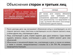 Дополнительные пояснения в гражданском процессе