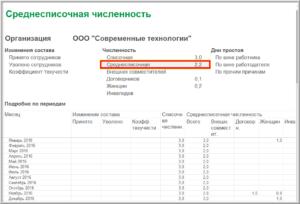 Программа подсчета среднесписочной численности работников
