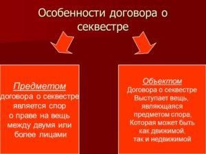 Содержание договора хранение вещей являющихся предметом спора секвестр