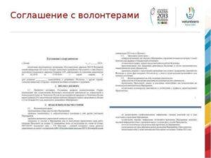 Волонтерский договор с бюджетной организацией