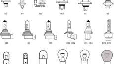 Виды цоколей автомобильных ламп