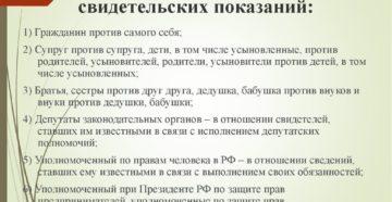 Статья 51 уголовного кодекса рф отказ от дачи показаний